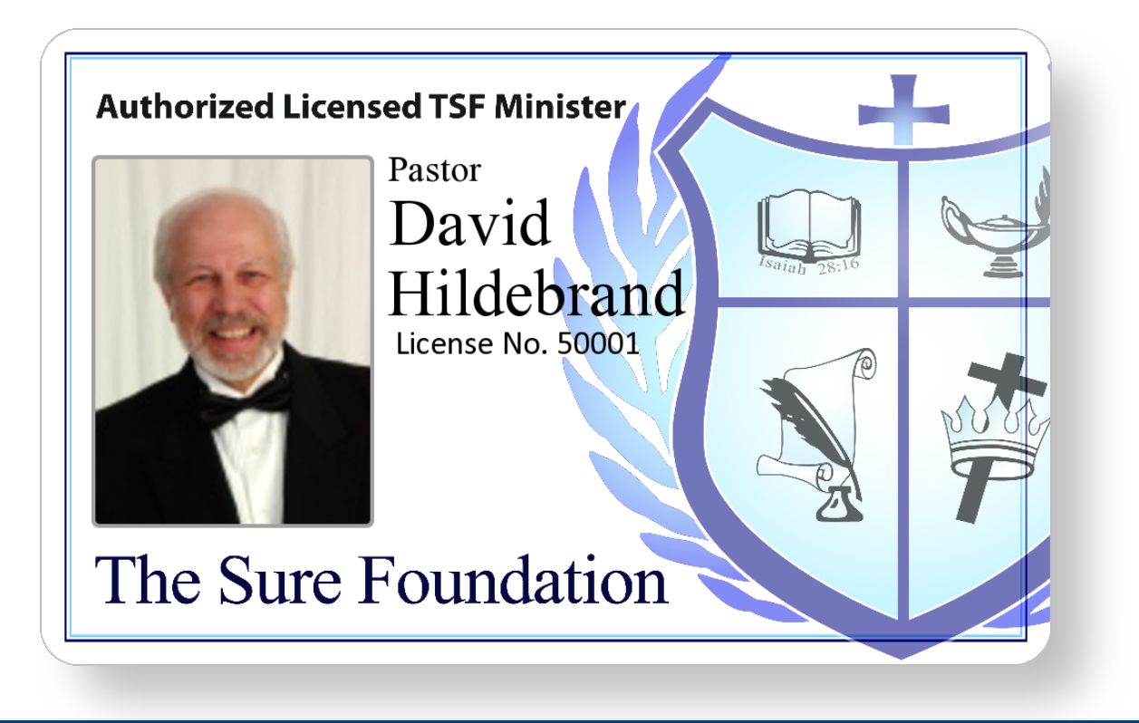 TSFTI Ministerial Lifetime License